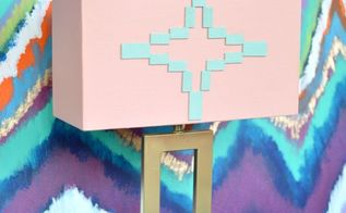 aztec inspired lamp makeover, crafts, how to, lighting