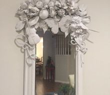 white diy mirror artist inspired, crafts, painted furniture, wall decor, My White DIY Mirror