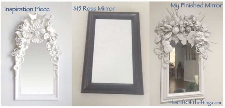 white diy mirror artist inspired, crafts, painted furniture, wall decor