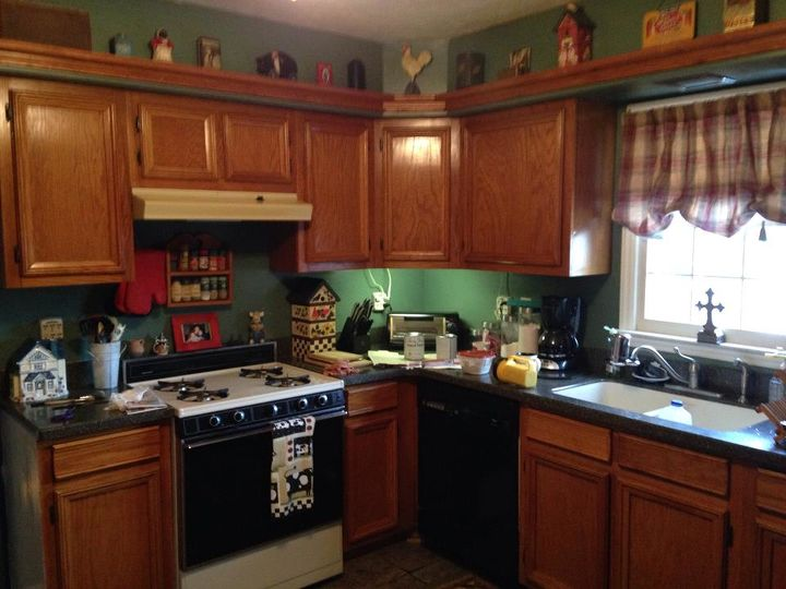 Redone Kitchen! Painted Cabinets, New Stove, New Backsplash | Hometalk