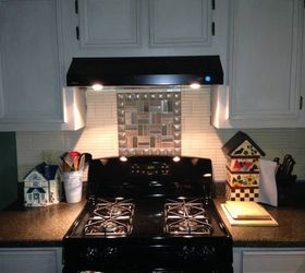 Redone Kitchen Painted Cabinets New Stove New Backsplash, Kitchen  Backsplash, Kitchen Cabinets, Kitchen
