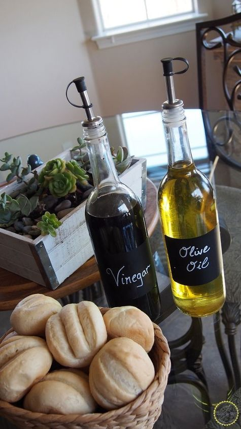 repurposing empty wine bottles into olive oil balsamic holders, chalkboard paint, crafts, how to, repurposing upcycling