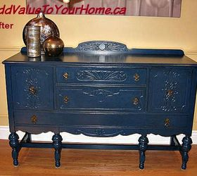 Superbe Beautiful Blue Painted Buffet, Painted Furniture