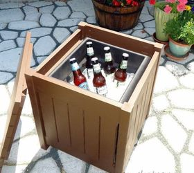 Outdoor Beverage Table With Cooler, Container Gardening, Outdoor Furniture,  Painted Furniture, Woodworking