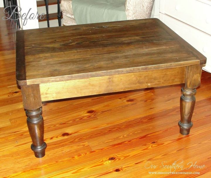 farmhouse coffee table makeover, chalk paint, painted furniture, rustic furniture