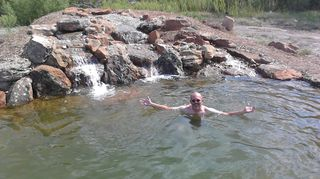, This is me enjoying a natural pond that we built a few years ago