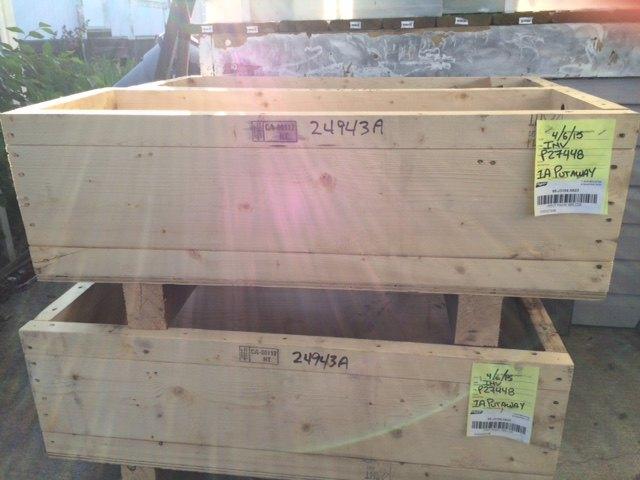 q repurposing wood packing crates in the garden, container gardening, gardening, repurposing upcycling
