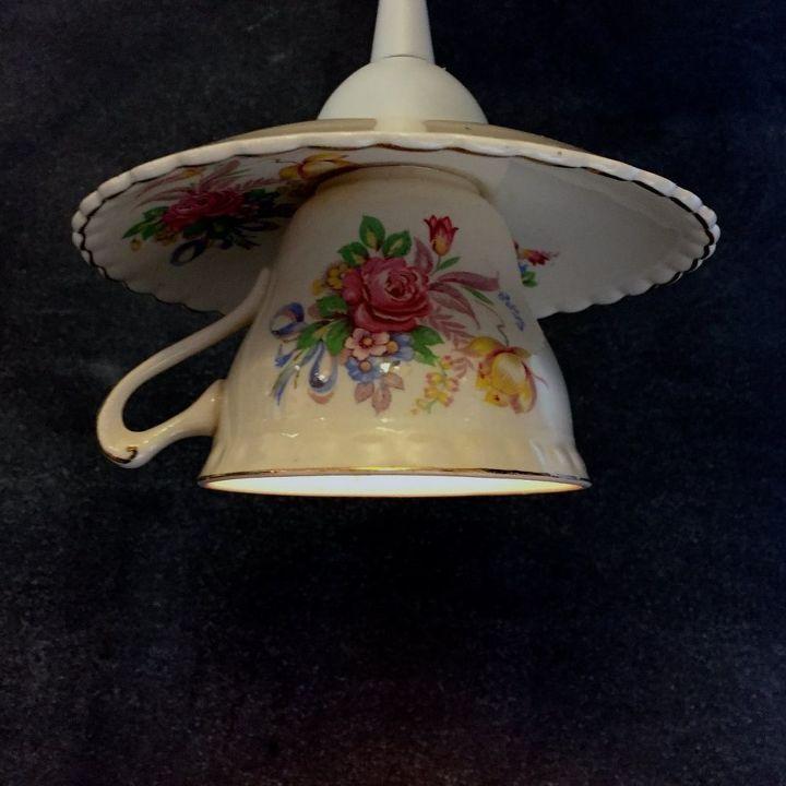 Light Pendant Set Teacup pendant light hometalk teacup pendant light crafts how to lighting repurposing upcycling ta da audiocablefo