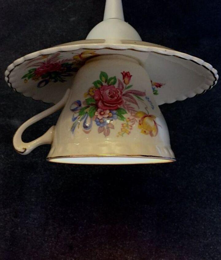 Ta da!... Teacup and saucer pendant light
