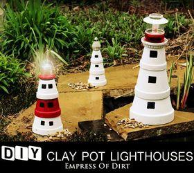 Diy Clay Pot Lighthouses, Crafts, Gardening, Lighting, Outdoor Living,  Repurposing Upcycling