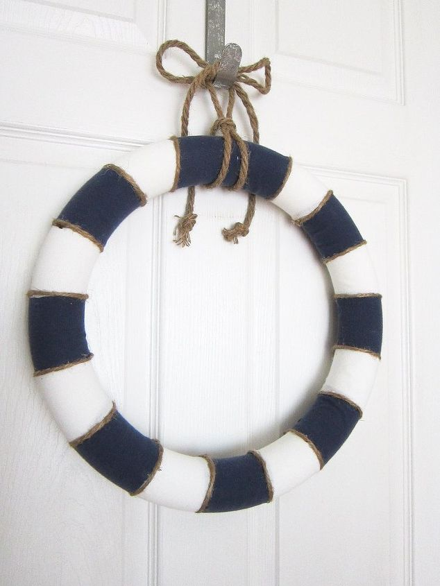 nautical summer wreath, crafts, how to, wreaths