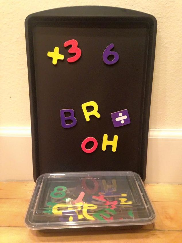 diy 3 portable magnetic chalkboard for kids, chalkboard paint, crafts, how to, repurposing upcycling