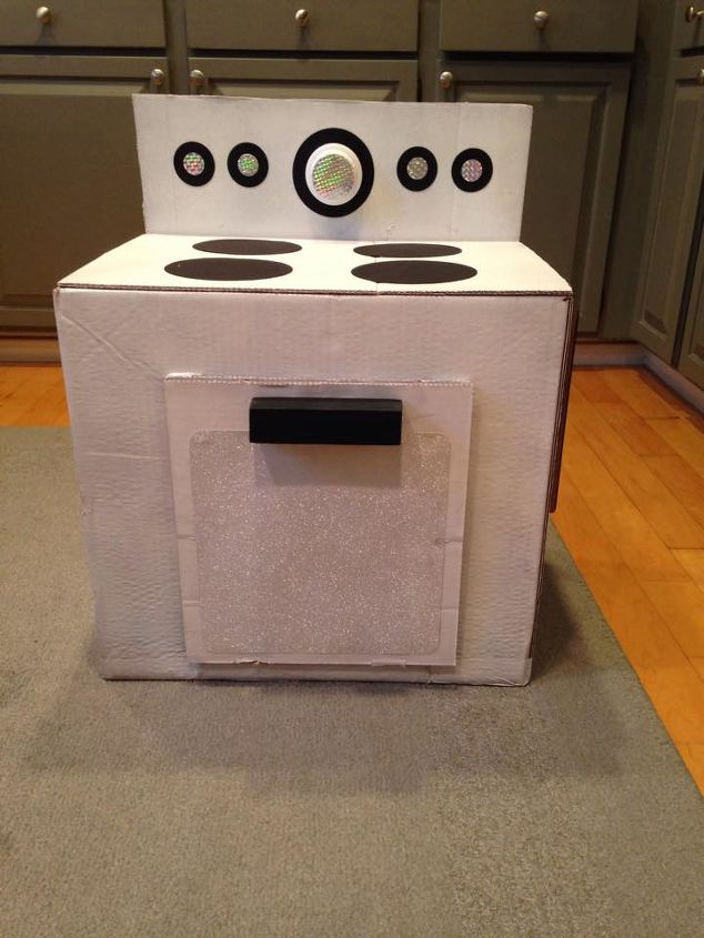 upcycle a box into a kid s play stove for under 5, chalkboard paint, crafts, how to, repurposing upcycling