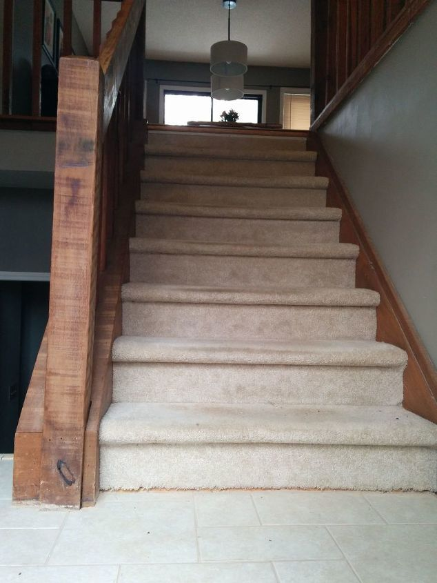Foyer With No Stairs : Split foyer staircase gets a makeover hometalk
