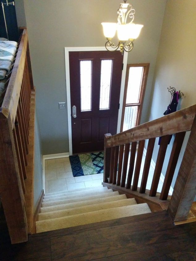 Foyer With No Staircase : Split foyer staircase gets a makeover hometalk