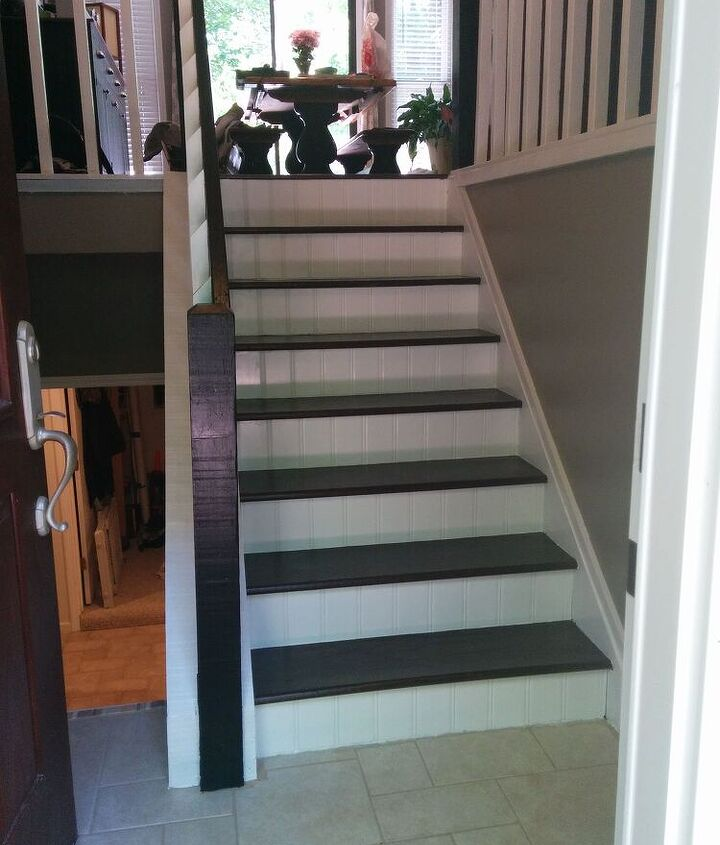 split foyer staircase gets a makeover, foyer, stairs