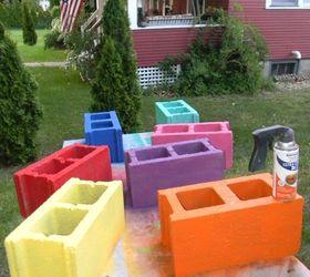 Cinder Block Bench, Outdoor Furniture, Outdoor Living, Patio, Repurposing  Upcycling, Bring