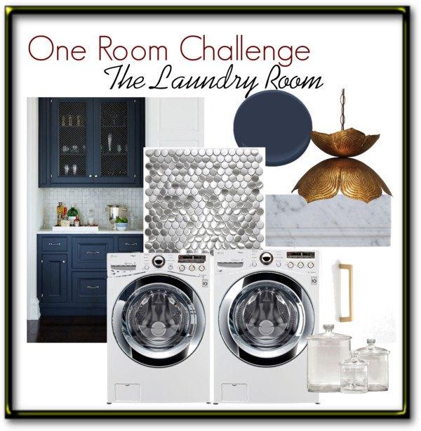Glam Laundry Room Makeover - for Under $300 | Hometalk on