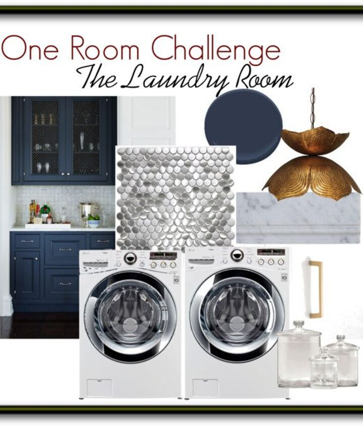 glam laundry room makeover for under 300, laundry rooms, storage ideas, wall decor