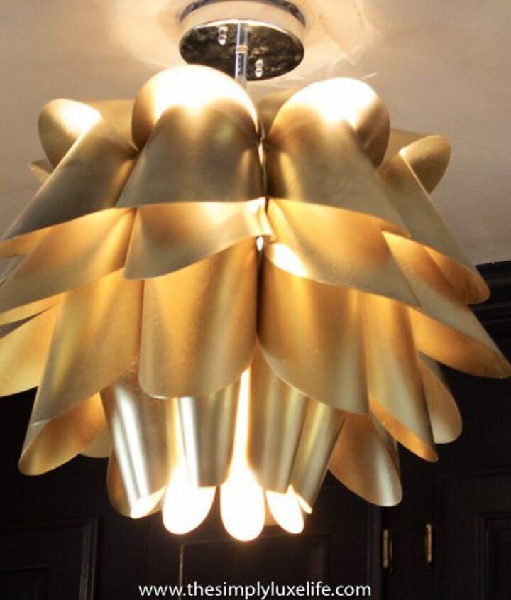 DIY Brass light fixture