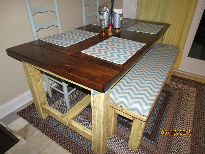 how to make your own farmhouse table, how to, painted furniture, woodworking projects