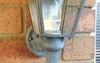 makeover of outdoor light, chalk paint, lighting, outdoor living, painting