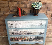upcycled dresser with french decal, painted furniture, repurposing upcycling