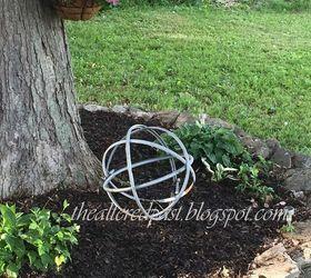 High Quality Repurposing Steel Drum Rings Into Beautiful Garden Orb, Gardening, Outdoor  Living, Repurposing Upcycling ...