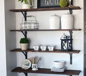 Diy Stained Open Shelving For The Kitchen, Kitchen Design, Shelving Ideas