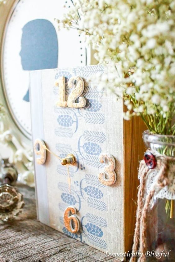 book clock, crafts, how to, repurposing upcycling