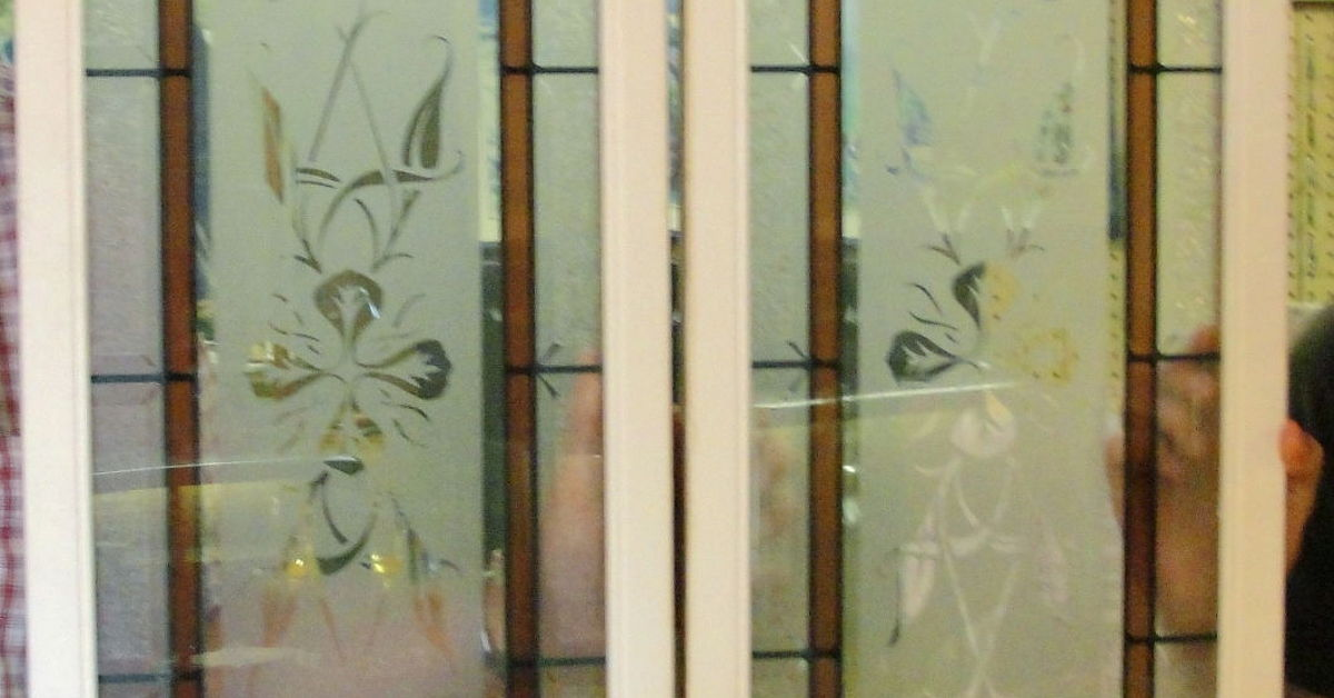 Diy Two Deco Glass Panels In Hollow Core Interior Door