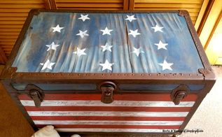 the star spangled banner trunk, how to, painted furniture, patriotic decor ideas, repurposing upcycling