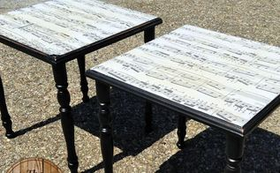 sheet music table makeover, painted furniture, repurposing upcycling