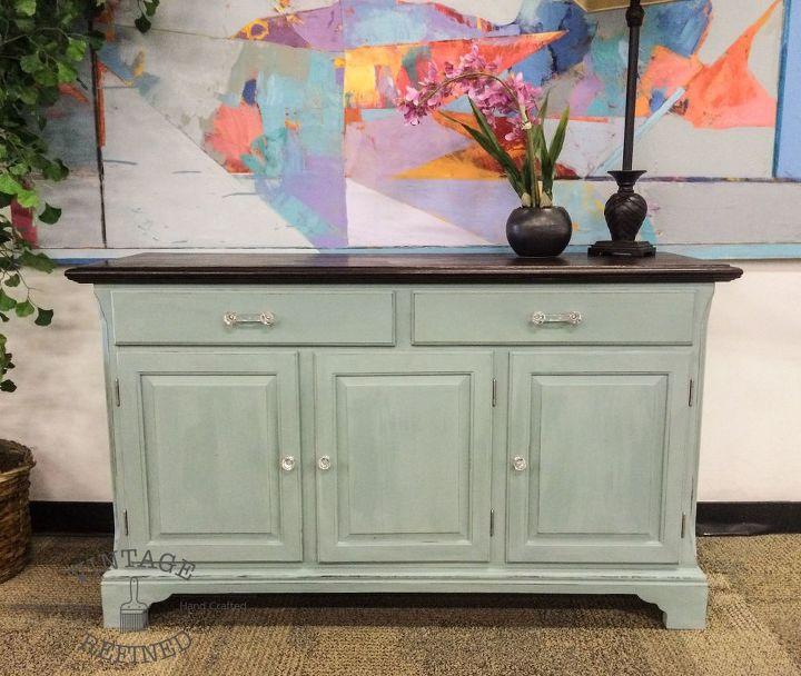 Light Blue Painted Buffet Chalk Paint Furniture