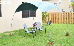 diy backyard sunshade, diy, gardening, how to, outdoor living