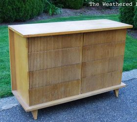 Klein Blue American Of Martinsville Bamboo Dresser Makeover, Painted  Furniture