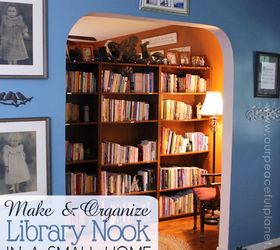tiny home library nook home decor living room ideas organizing & Tiny Home Library Nook | Hometalk