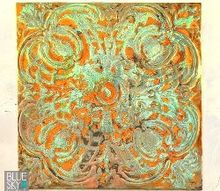 how to make rusty patinated wall art using modern masters metal effects, crafts, how to, living room ideas, painting, wall decor