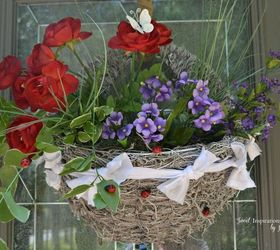 Front Door Moss And Flowers Basket Hometalk