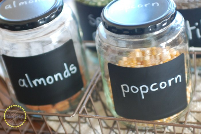 organizing with upcycled pickle jars, chalkboard paint, crafts, how to, organizing, repurposing upcycling