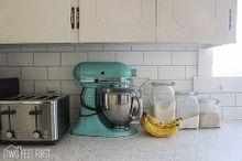 diy cheap subway tile backsplash, diy, how to, kitchen backsplash, kitchen design, tiling