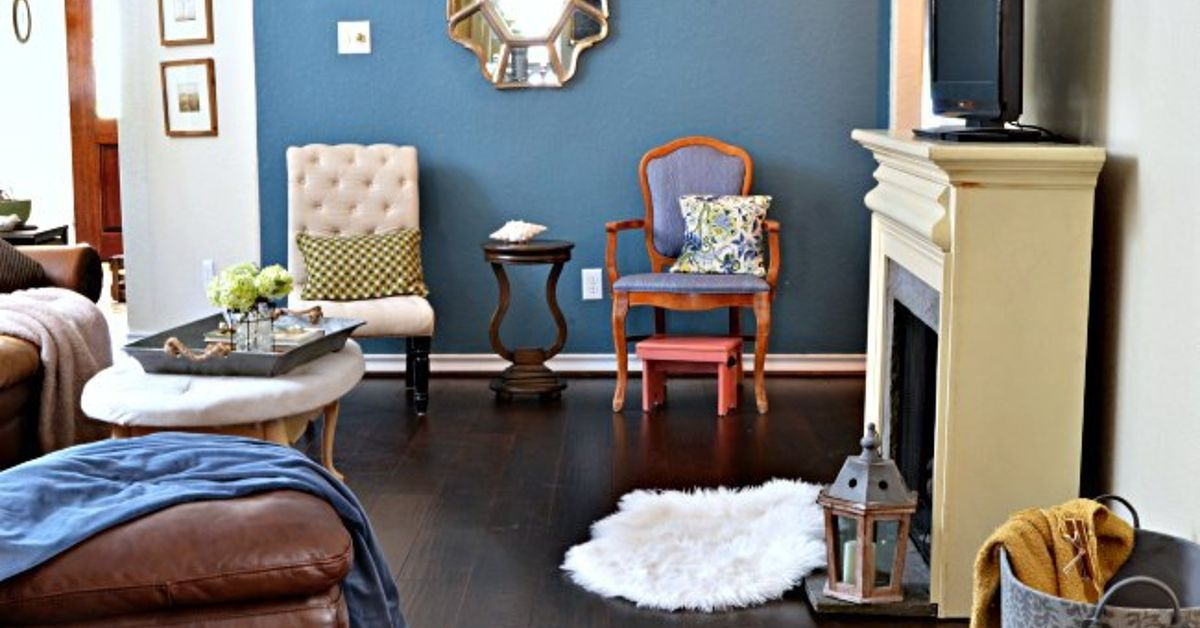 Living Room update-New Wood Floors | Hometalk