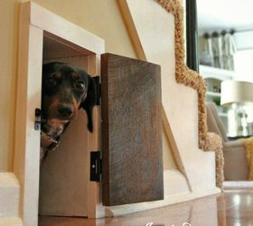 Doghouse Under The Stairs, Pets Animals, Stairs