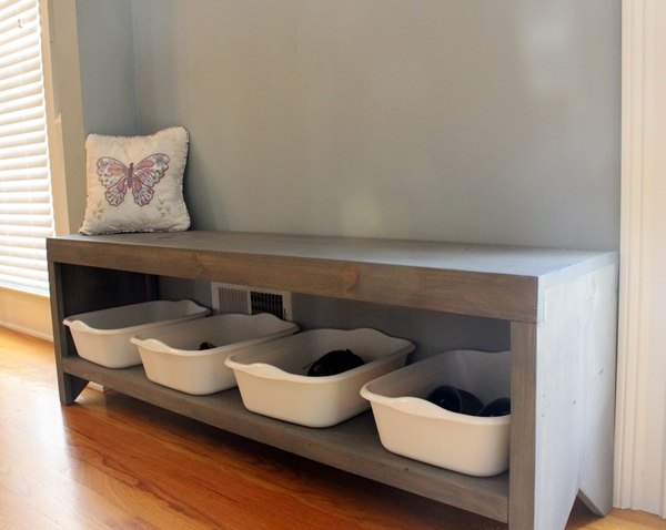 diy coat rack and bench for the entryway, diy, foyer, painted furniture