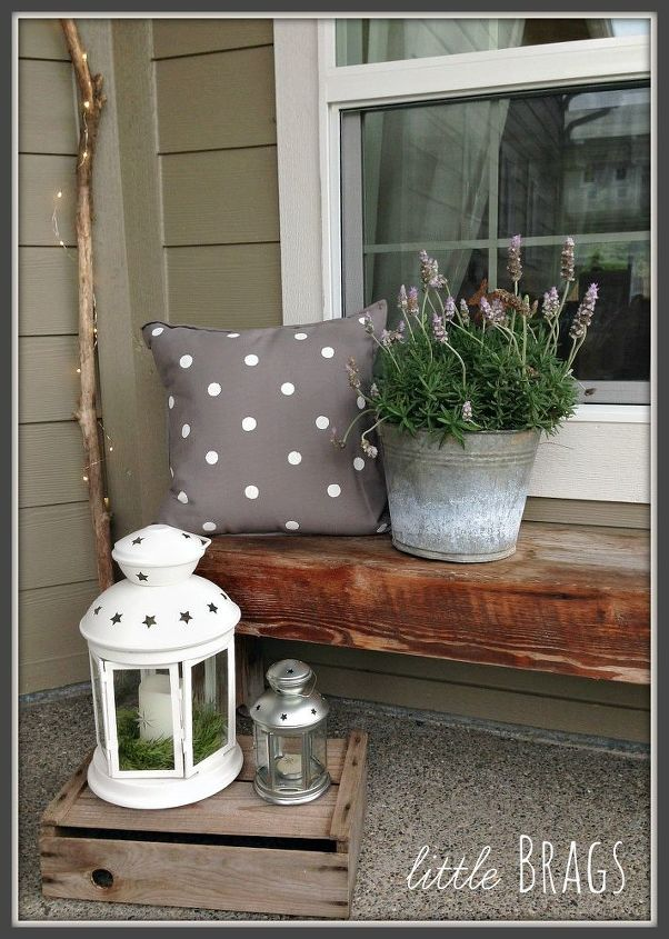 cute diy polka dot outdoor pillows, crafts, how to, outdoor furniture, outdoor living, reupholster