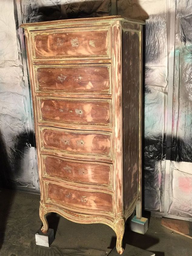 ombre french lingerie chest, painted furniture