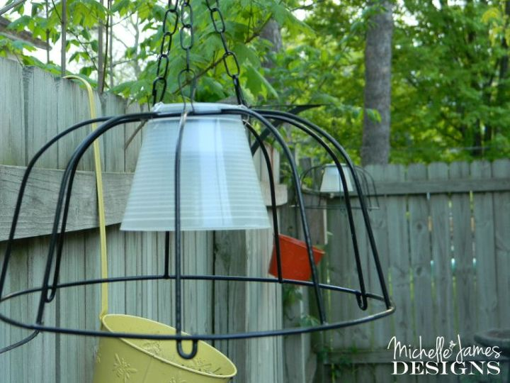outdoor lighting from dollar store items, how to, lighting, outdoor living, repurposing upcycling