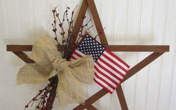Patriotic July 4th Scrap Wood Star Wreath Alternative