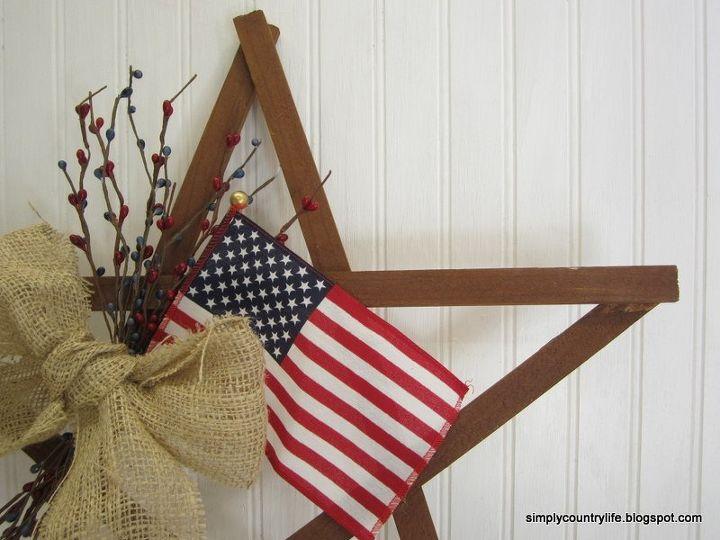patriotic july 4th scrap wood star wreath alternative, crafts, patriotic decor ideas, seasonal holiday decor, wreaths