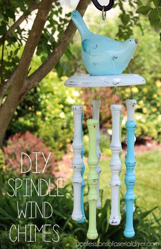 diy spindle wind chimes, crafts, how to, outdoor living, repurposing upcycling, woodworking projects
